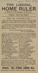 Advert for the Liberal Home Ruler Newspaper